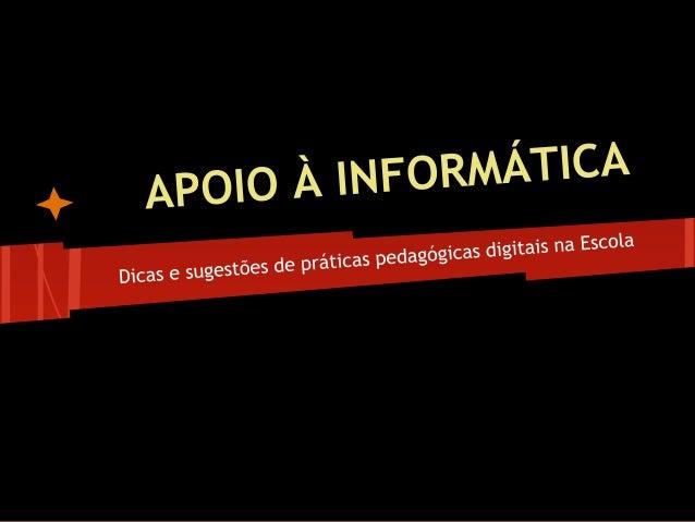 • Dicas de segurança nas redes sociais (no blog do proj letram.digital) • Google drive (próx.enc) • Portal do professor • ...