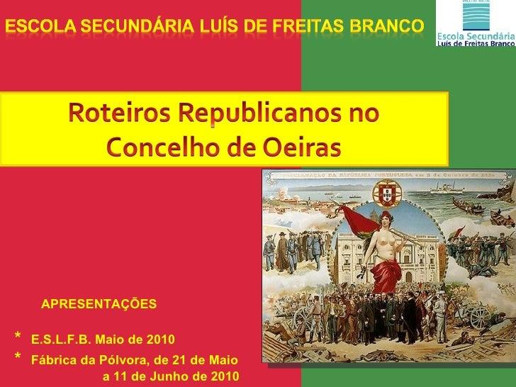 Roteiros republicanos do concelho de oeiras i