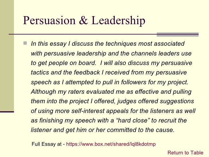 "essay for leadership qualities These characteristics are what makes a leader worth following and worthy of a leadership position ""those who stand for nothing, fall for anything"", and a leader with these traits knows what."