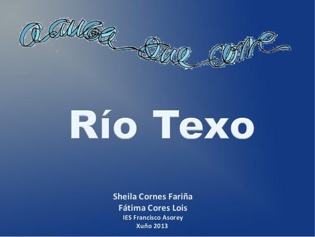 Sheila Cornes Fariña Fátima Cores Lois IES Francisco Asorey Xuño 2013