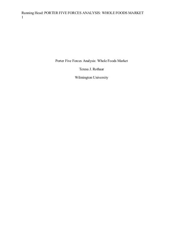 Five forces analysis of whole food market