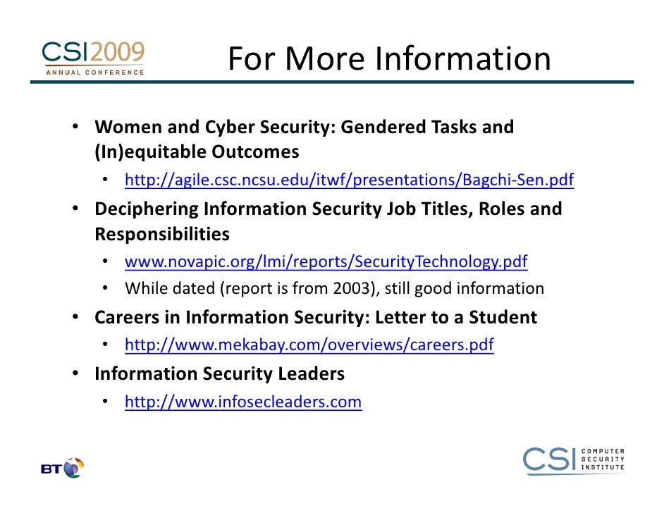 a career as an information security Wondering what kind of skills it takes to make it in a cyber security  committing  to ongoing training may be the best key to a successful career.