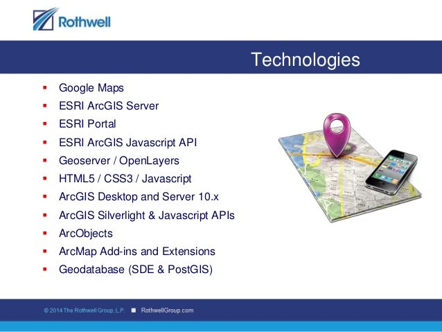 Rothwell GIS & Geospatial solutions overview 2014