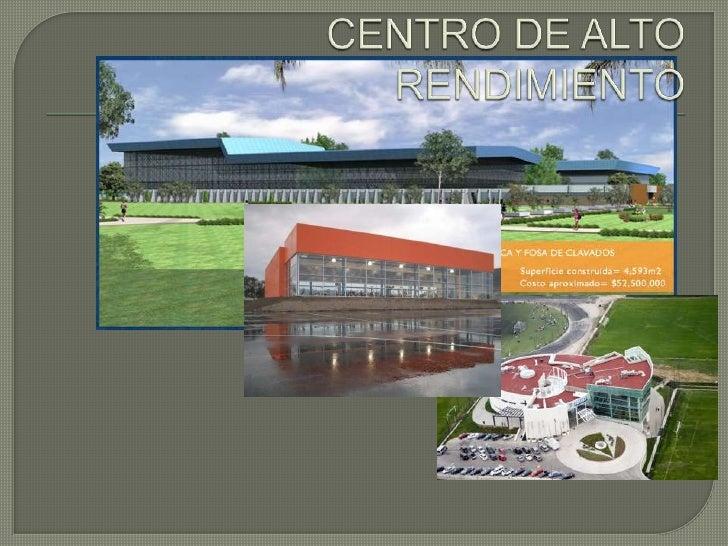 CENTRO DE ALTO RENDIMIENTO<br />