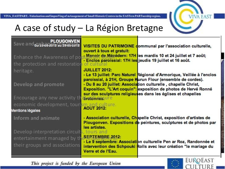 Eu best practices on intangible heritage and local development for Portent of restoration