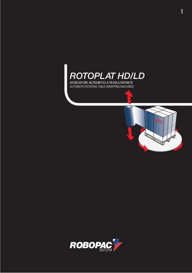 I/UKROTOPLAT HD/LDAVVOLGITORI AUTOMATICI A TAVOLA ROTANTEAUTOMATIC ROTATING TABLE WRAPPING MACHINESROBOPAC     SISTEMI