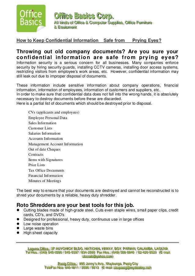 Roto sales letter