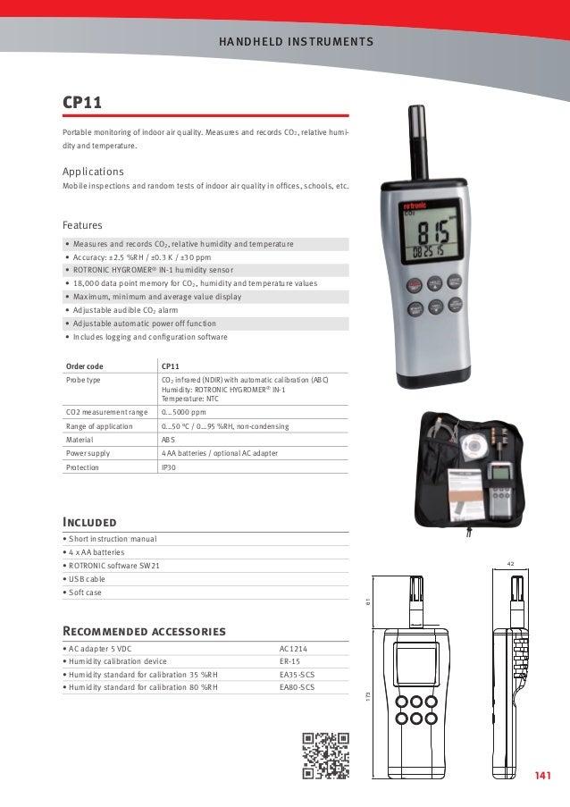 rotronic temperature and humidity sensor manual