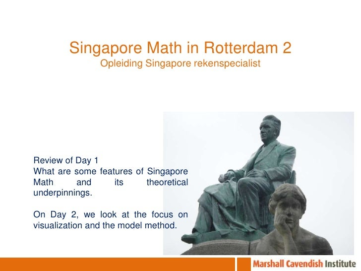 Singapore Math in Rotterdam 2<br />Opleiding Singapore rekenspecialist<br />Review of Day 1<br />What are some features of...