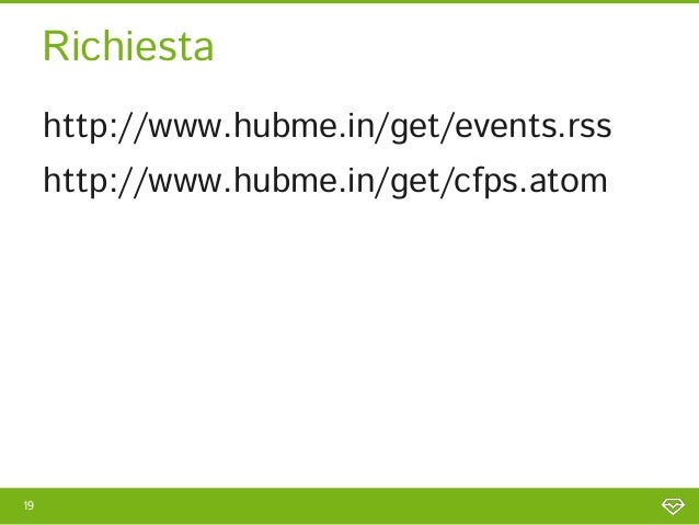Richiesta     http://www.hubme.in/get/events.rss     http://www.hubme.in/get/events.rss     http://www.hubme.in/get/cfps.a...