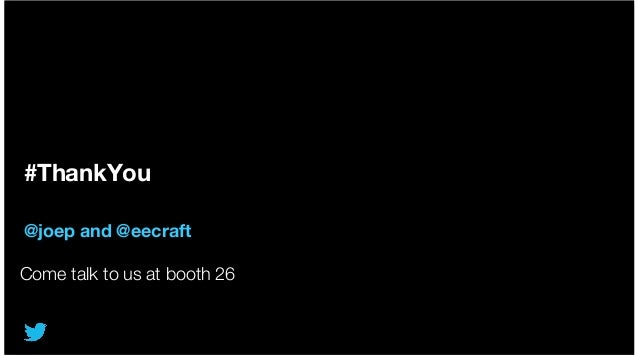 #ThankYou @joep and @eecraft Come talk to us at booth 26