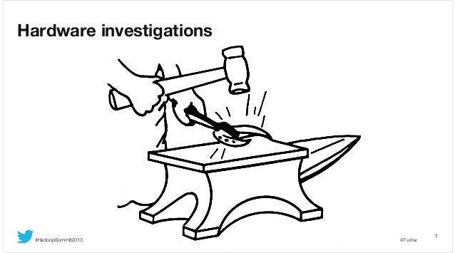 Hardware investigations  #HadoopSummit2013  @Twitter  7