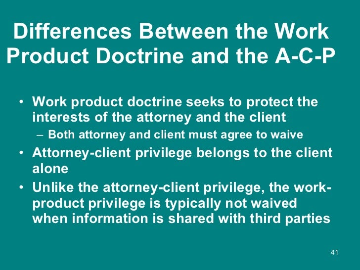 Attorney Client Privilege And Third Parties