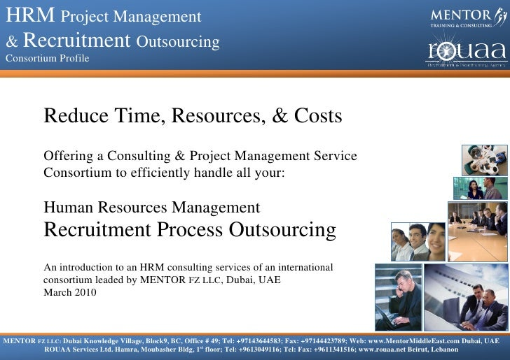 HRM Project Management & Recruitment Outsourcing  HRM Project Management     Consortium Profile    & Recruitment Outsourci...