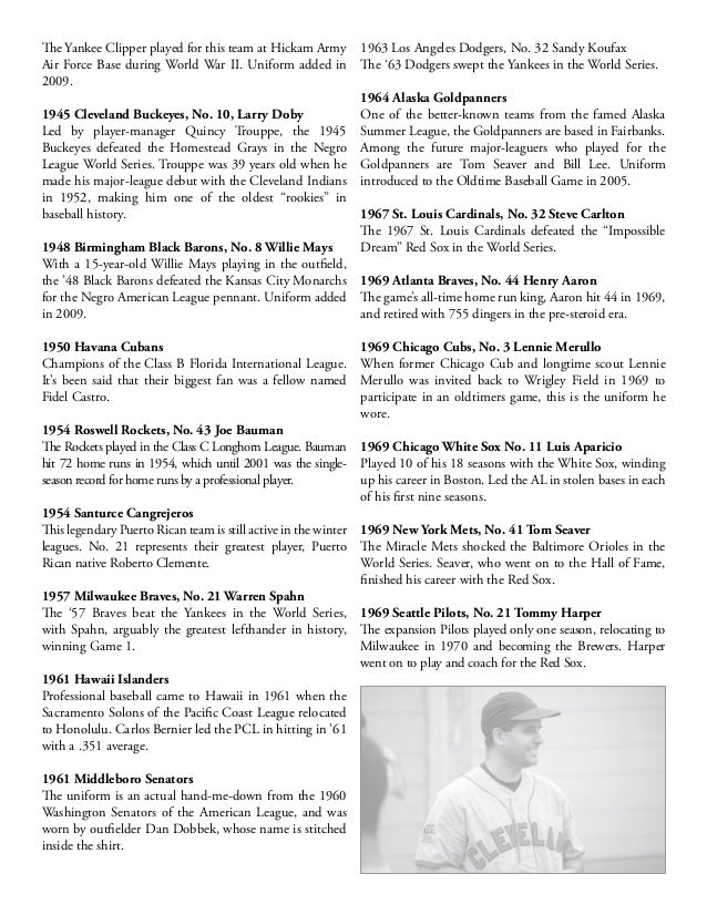"""1944 St. Louis Cardinals, No. 6 Stan Musial Stan """"The Man"""" Musial played 22 seasons for the Cardinals and was a 20-time al..."""