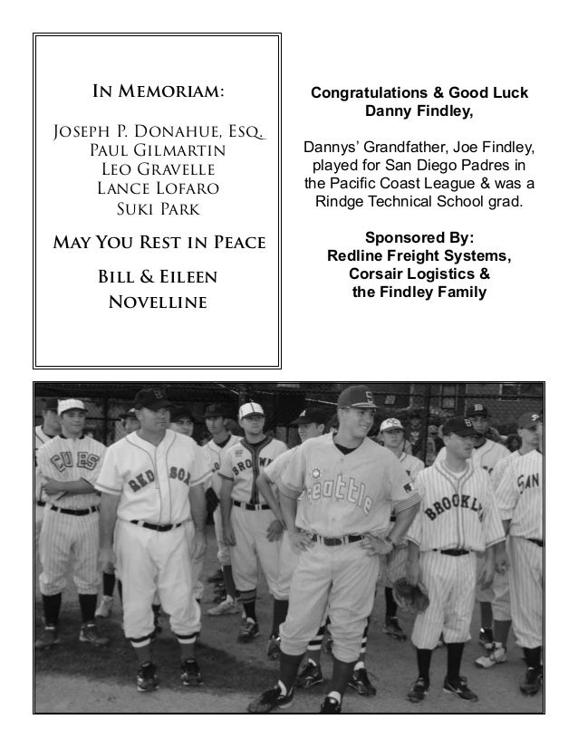 The Oldtime Baseball Game | P.O. Box 292 | North Andover, MA. 01845 | Program designed by Jesse Haley www.OldtimeBaseball....
