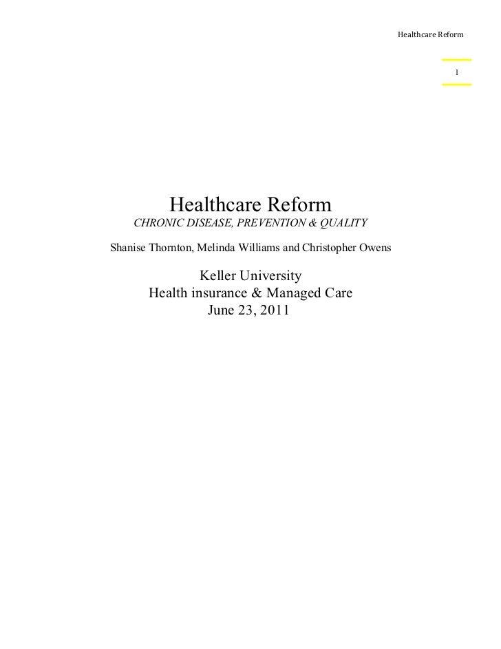 Healthcare Reform                                                                         1           Healthcare Reform   ...