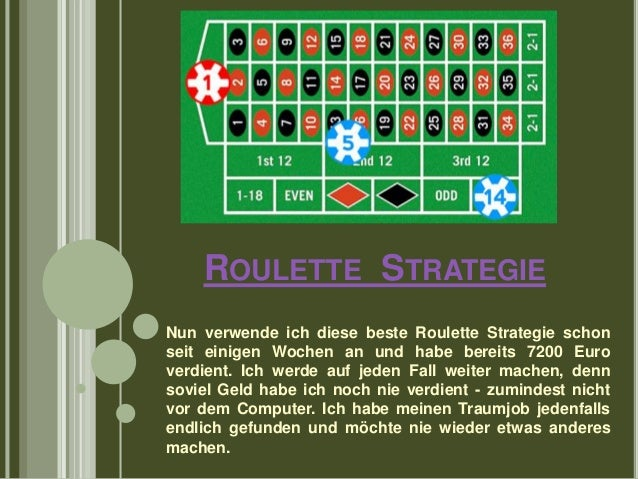 Roulett Strategie