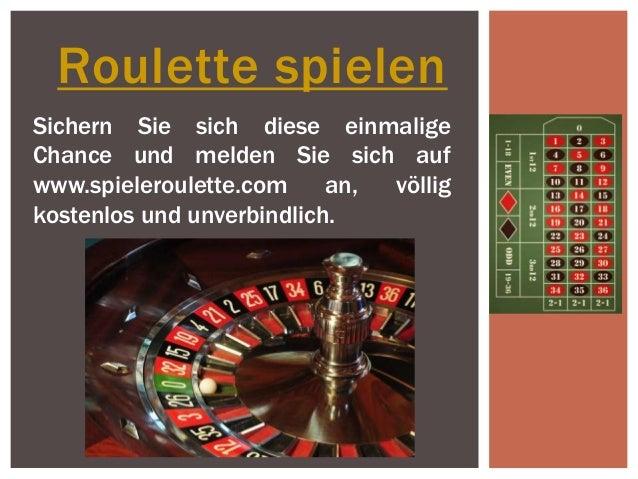 Roulette spielen Sichern Sie sich diese einmalige Chance und melden Sie sich auf www.spieleroulette.com an, völlig kostenl...