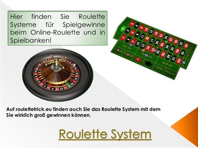 Hier finden Sie Roulette Systeme für Spielgewinne beim Online-Roulette und in Spielbanken! Auf roulettetrick.eu finden auc...