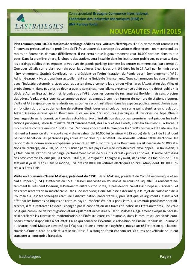 Eastrategies Page 3 Plan roumain pour 10.000 stations de recharge dédiées aux voitures électriques : Le Gouvernement rouma...