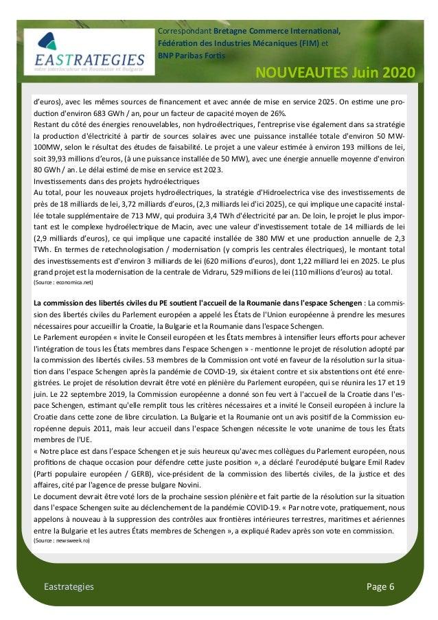 Eastrategies Page 6 d'euros), avec les mêmes sources de financement et avec année de mise en service 2025. On es me une pro...