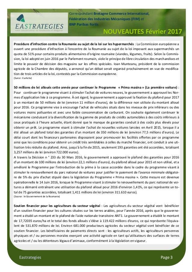 Les actualit s de la roumanie pour le mois de f vrier 2017 - Certificat d origine chambre de commerce ...