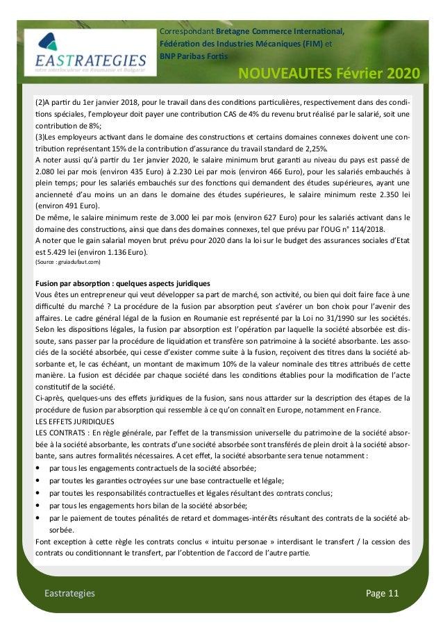 Eastrategies Page 11 NOUVEAUTES Février 2020 Correspondant Bretagne Commerce Interna!onal, Fédéra!on des Industries Mécani...