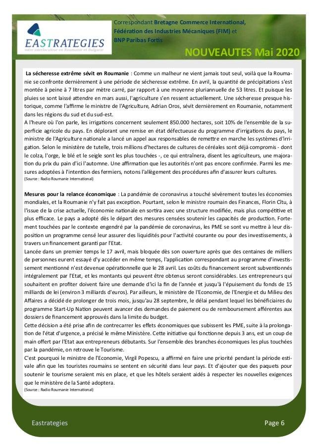 Eastrategies Page 6 La sécheresse extrême sévit en Roumanie : Comme un malheur ne vient jamais tout seul, voilà que la Rou...