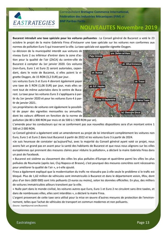 Eastrategies Page 13 NOUVEAUTES Novembre 2019 Correspondant Bretagne Commerce Interna#onal, Fédéra#on des Industries Mécan...