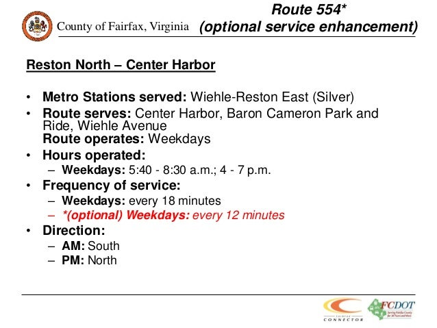 FCDOT: Silver Line Phase 1 Bus Service Plan-Second Round