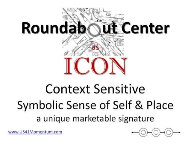 Roundabout centers as context sensitive icons 6 2014