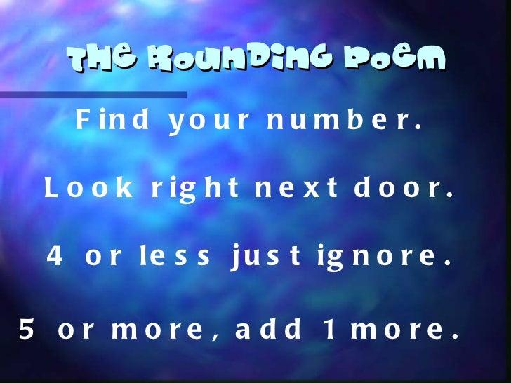 the rounding