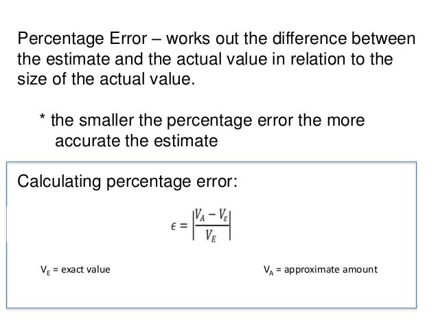 what is normally per cent error