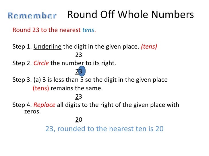 Rounding decimal numbers round off whole ibookread Download