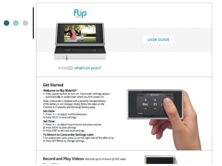 rounds and flip video rh slideshare net flip video ultra user manual flip video camera user guide