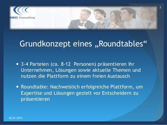 Roundtable - Erfolgreiche Offshoring Lösungen  Slide 3