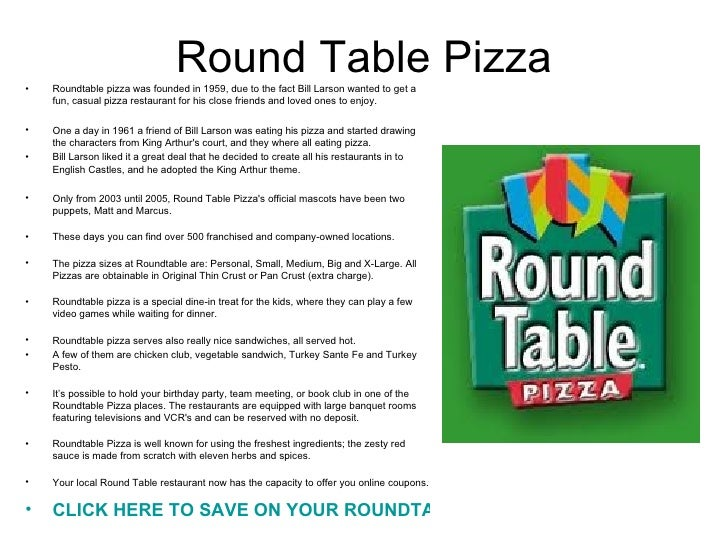 Where Is Round Table Pizza.Round Table Pizza