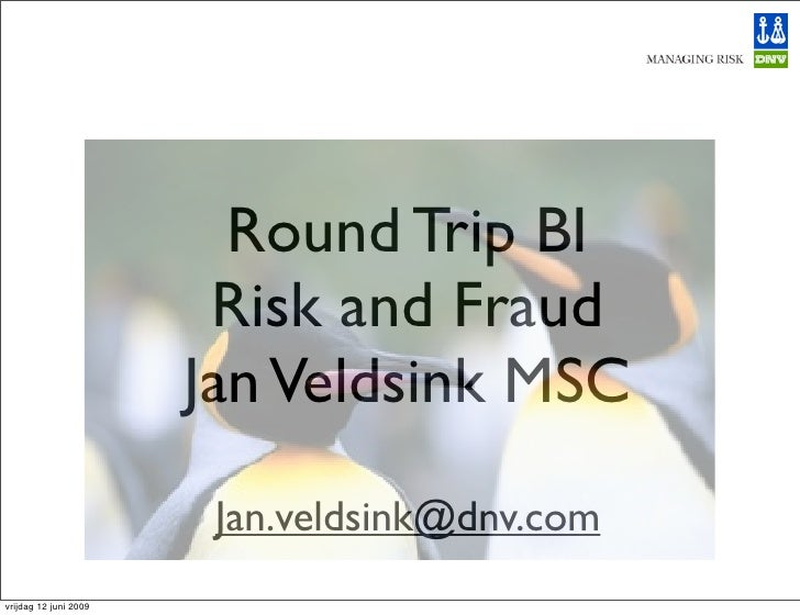Round Trip BI                         Risk and Fraud                        Jan Veldsink MSC                         Jan.v...