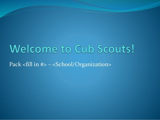 Cub scout roundup 2014 presentation template for Cub scout powerpoint template