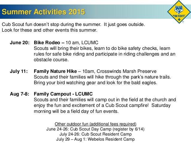 Cub Scout Roundup Presentation