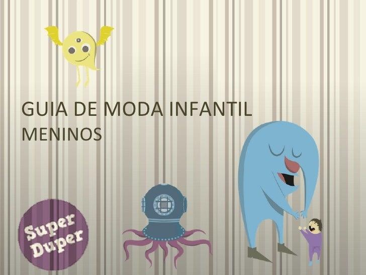 GUIA DE MODA INFANTILMENINOS