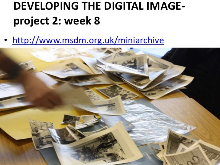 DEVELOPING THE DIGITAL IMAGE-project 2: week 8<br />http://www.msdm.org.uk/miniarchive<br />