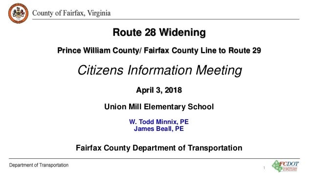 Route 28 Widening: Citizens Information Meeting   April 3, 2018