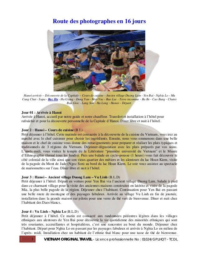 Route des photographes en 16 jours Hanoi arrivée – Découverte de la Capitale – Cours de cuisine - Ancien village Duong Lam...