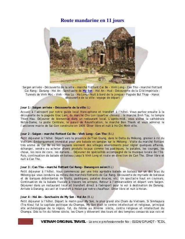 Route mandarine en 11 jours Saigon arrivée – Découverte de la ville – marché flottant Cai Be - Vinh Long - Can Tho – march...