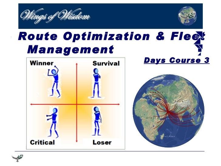 Route Optimization & Fleet  Management  3 Days Course
