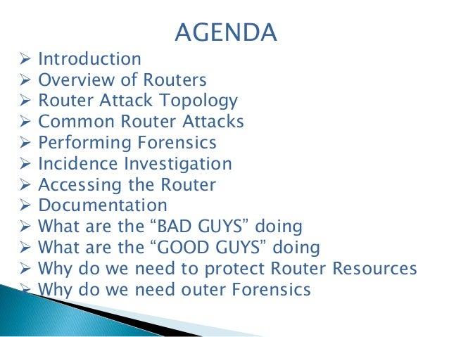 Router forensics Slide 2