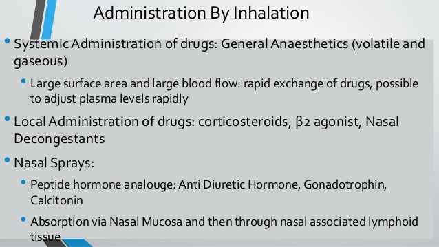 inhalation route of drug administration pdf