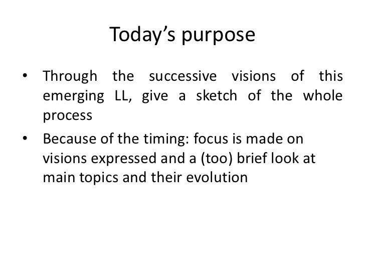 Cedric Routier Social Dynamics of a Living Lab: Sketch of a Monography Slide 3